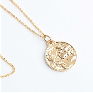NIB Tory Burch Golden Coin Necklace